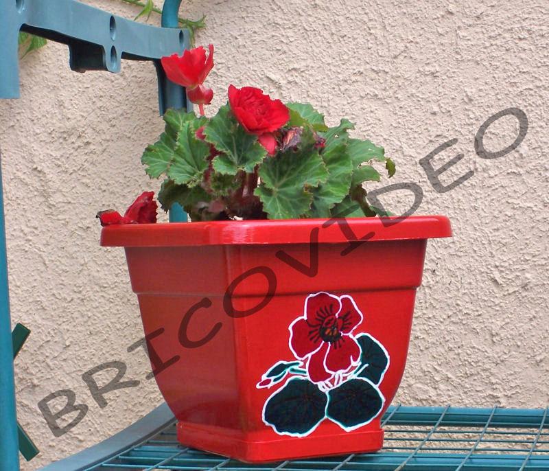 Plastique loisirs cr atifs d coration jardini res pots maison jardin bo tes pvc for Peindre sur du plastique