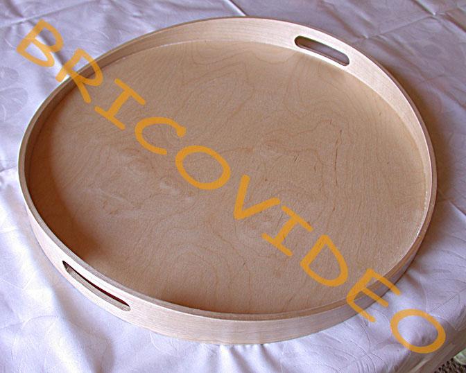 Bricolage cr atifs mosa ques plateau bois d coupe miroir for Miroir rond mosaique