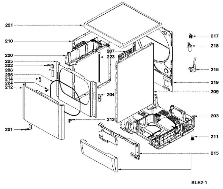 Panne lectrom nager d montage pompe de vidange s che linge brandt type efe731f - Comment fonctionne un seche linge ...