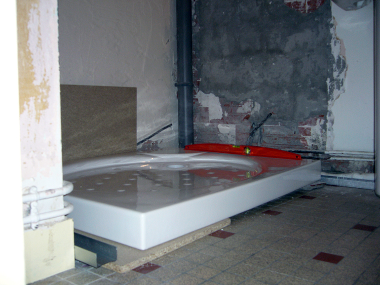 bricolage receveur de douche