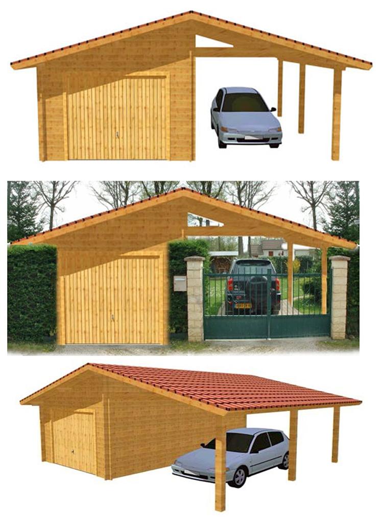 Plan de garage en bois trouvez le meilleur prix sur voir for Prix construction garage 60m2