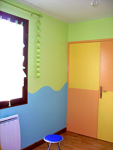 Conseils d coration chambres b b enfants forum d co bricolage peinture - Chambre peinture 2 couleurs ...
