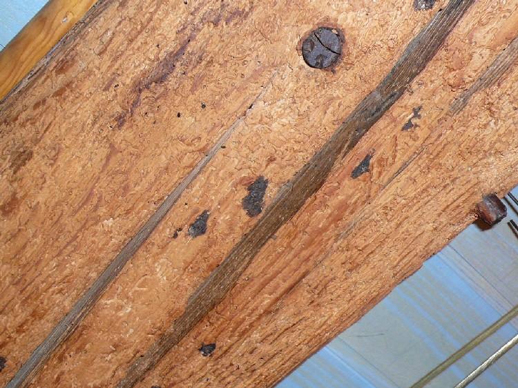 D caper poutres anciennes sabl es et trait es puis for Peindre des poutres